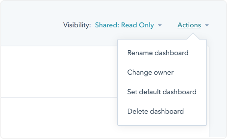 Set a Default Dashboard and Manage Your Dashboards