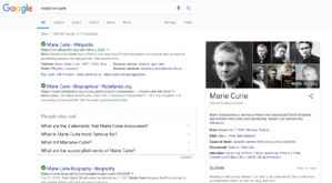 Knowledge Card Example of Madame Curie